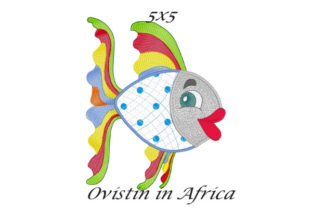 Rainbow Sassy Applique Fish Fish & Shells Embroidery Design By Ovistin in Africa