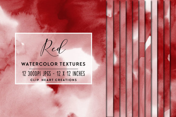 Red Watercolor Digital Papers Graphic Backgrounds By clipheartcreations