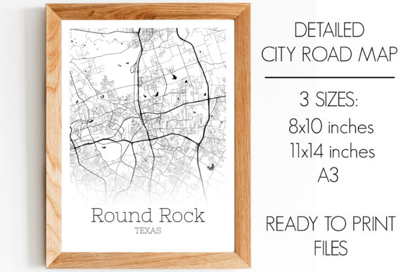 Print on Demand: Round Rock Texas City Map Graphic Photos By SVGExpress