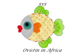 Sassy Applique Fish Fish & Shells Embroidery Design By Ovistin in Africa