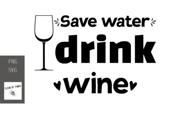 Print on Demand: Save Water Drink Wine 7 Graphic Illustrations By Fleur de Tango