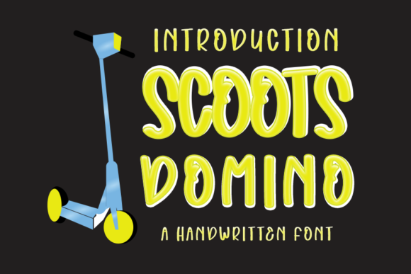 Download Free Scoots Domino Font By Inermedia Studio Creative Fabrica for Cricut Explore, Silhouette and other cutting machines.