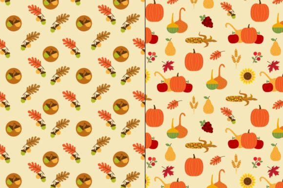Download Free Seamless Thanksgiving Patterns Graphic By Melissa Held Designs for Cricut Explore, Silhouette and other cutting machines.