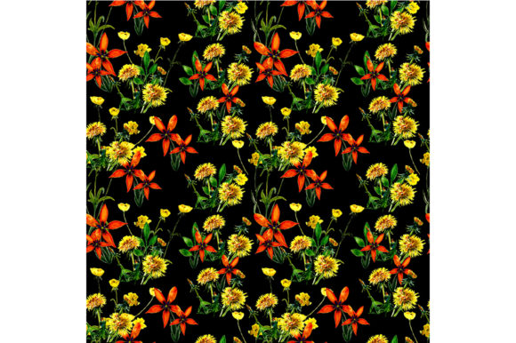 Download Free Seamless Spring Pattern Graphic By Kakva Creative Fabrica SVG Cut Files