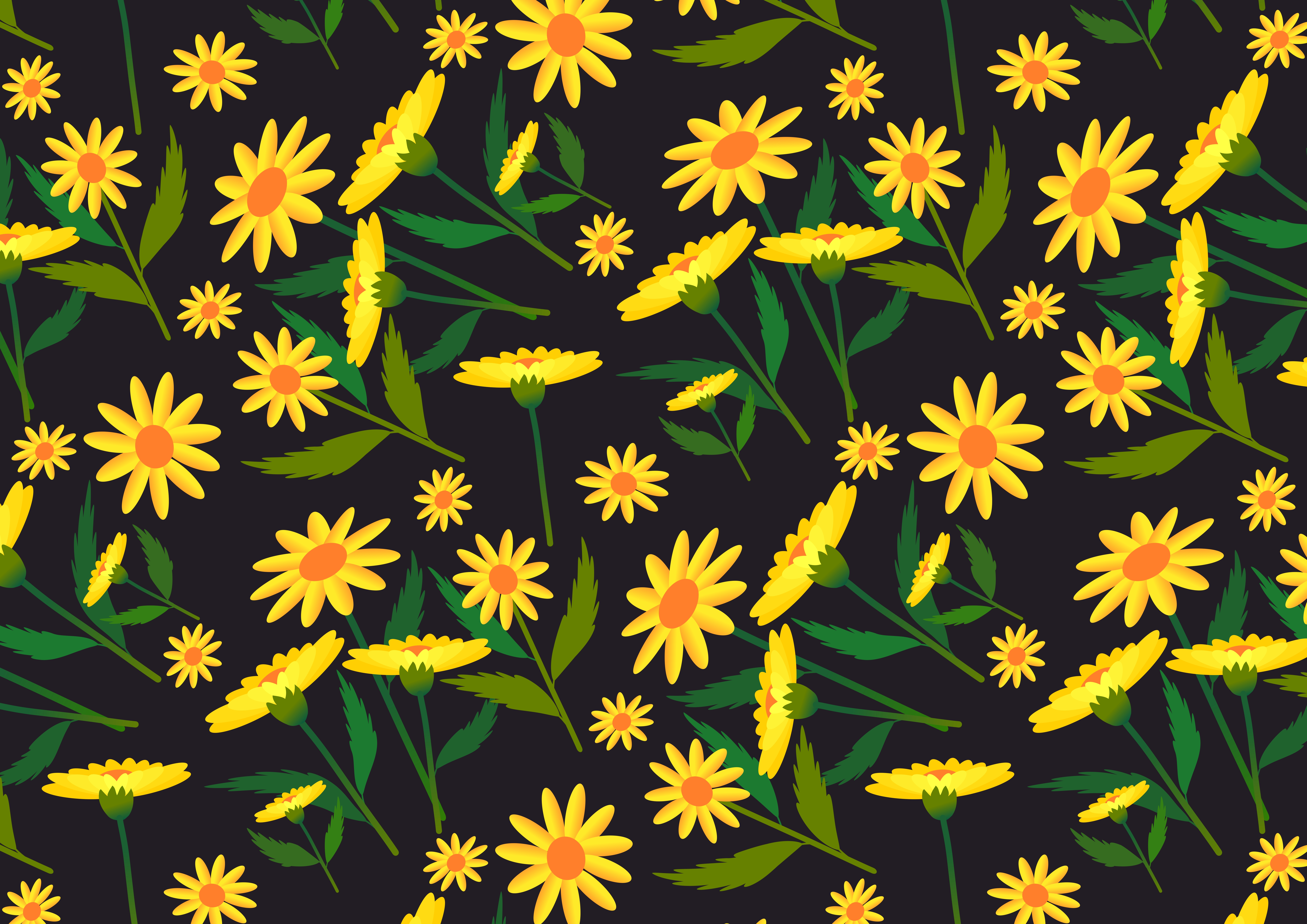 Download Free Set Of 6 Backgrounds With Floral Pattern Graphic By for Cricut Explore, Silhouette and other cutting machines.