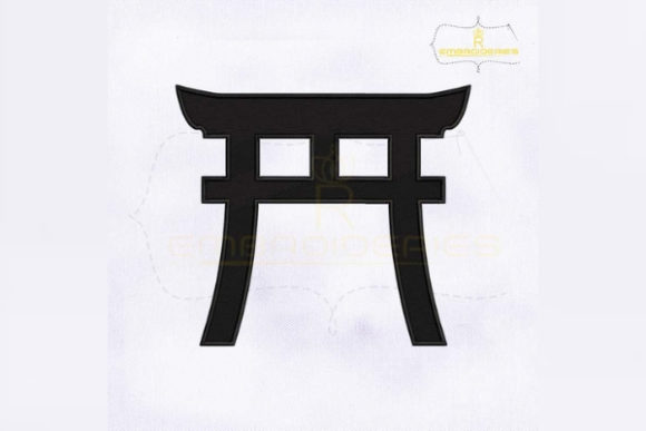 Shinto Symbol Religion & Faith Embroidery Design By RoyalEmbroideries