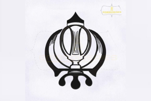 Sikh Khanda Religion & Faith Embroidery Design By RoyalEmbroideries