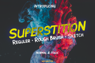 Print on Demand: Superstition Display Font By inst.ink!type