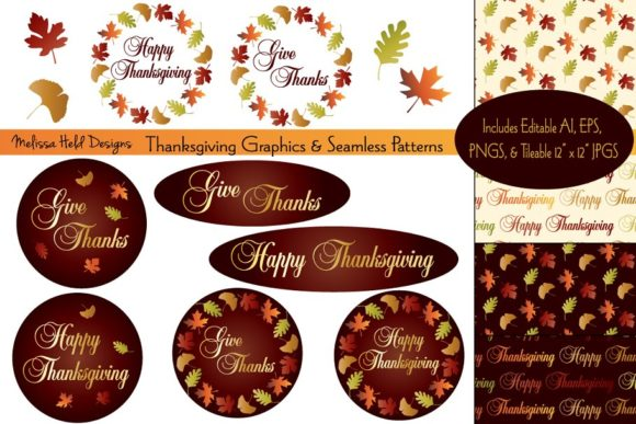 Thanksgiving Graphics & Patterns Graphic Patterns By Melissa Held Designs