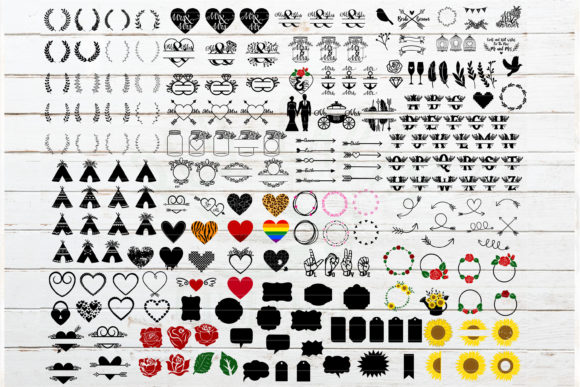 The Huge Wedding Newlyweds Bundle Graphic Crafts By redearth and gumtrees - Image 2