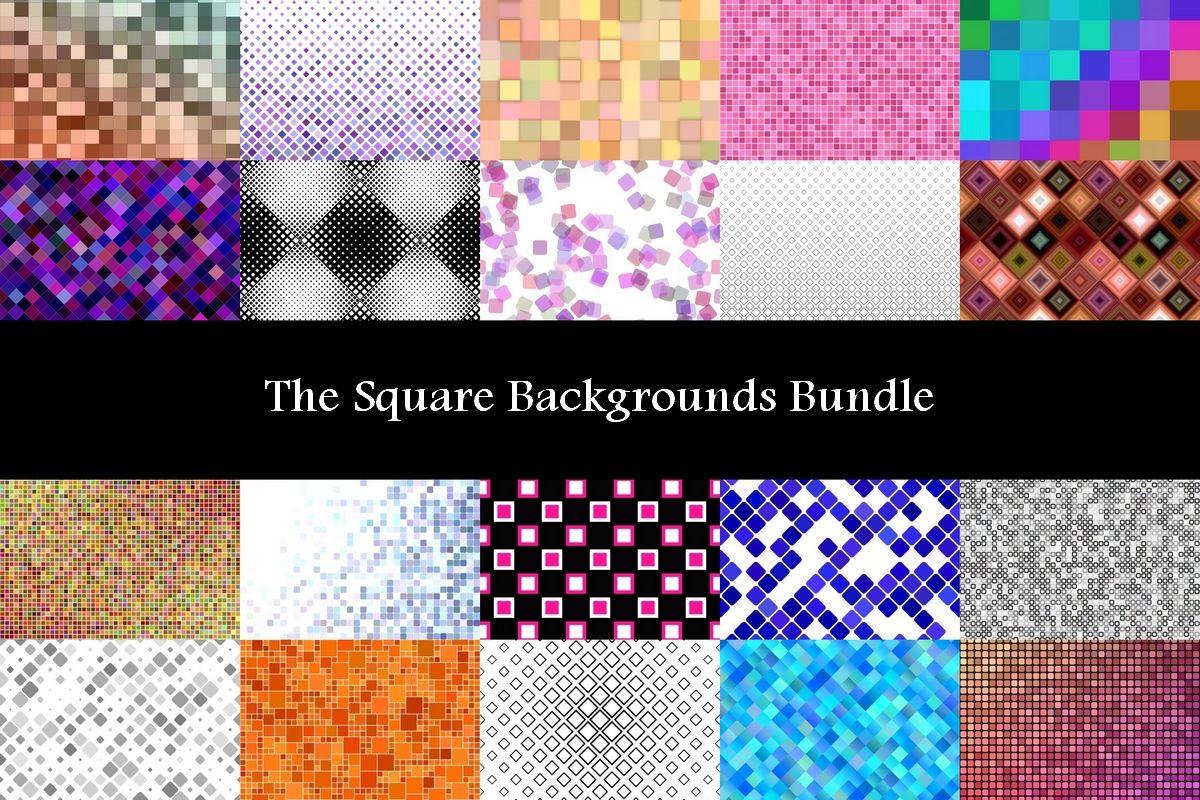 Download Free The Square Backgrounds Bundle Bundle Creative Fabrica for Cricut Explore, Silhouette and other cutting machines.
