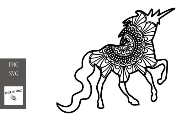Download Free Unicorn Zentangle 12 Graphic By Fleur De Tango Creative Fabrica for Cricut Explore, Silhouette and other cutting machines.