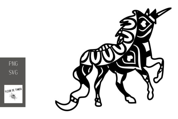 Download Free Unicorn Zentangle 16 Graphic By Fleur De Tango Creative Fabrica for Cricut Explore, Silhouette and other cutting machines.