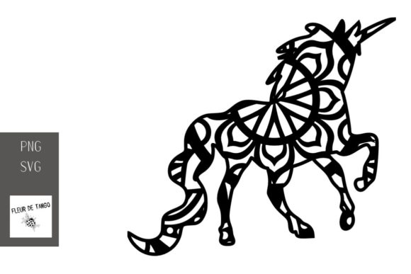 Download Free Unicorn Zentangle 18 Graphic By Fleur De Tango Creative Fabrica for Cricut Explore, Silhouette and other cutting machines.