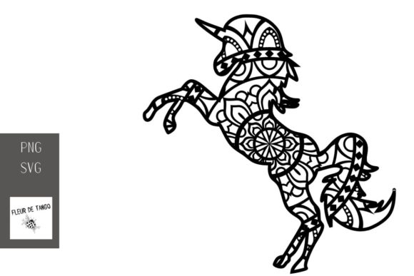 Download Free Unicorn Zentangle 19 Graphic By Fleur De Tango Creative Fabrica for Cricut Explore, Silhouette and other cutting machines.