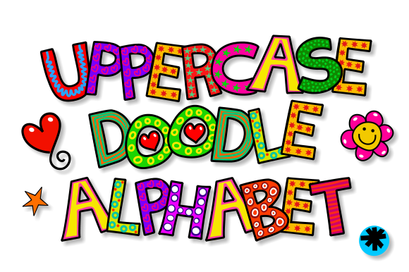Print on Demand: Uppercase Doodle Alphabet Set 1 Graphic Illustrations By Prawny