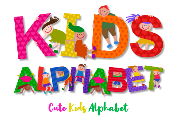 Download Free Uppercase Kids Alphabet Clipart Graphic By Prawny Creative Fabrica for Cricut Explore, Silhouette and other cutting machines.
