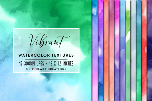 Download Free Vibrant Watercolor Digital Papers Graphic By Clipheartcreations for Cricut Explore, Silhouette and other cutting machines.