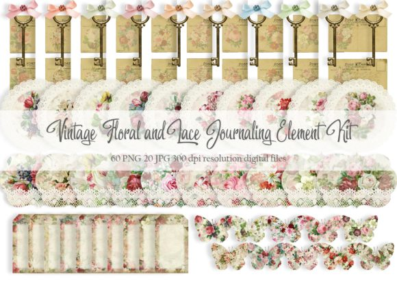 Download Free Vintage Floral Journaling Element Kit Graphic By Simply Paper for Cricut Explore, Silhouette and other cutting machines.