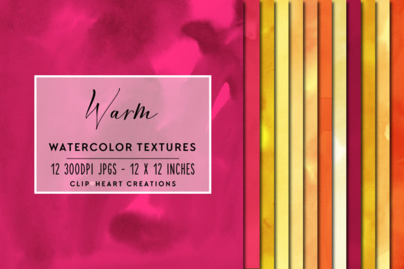Warm Watercolor Digital Papers Graphic Backgrounds By clipheartcreations