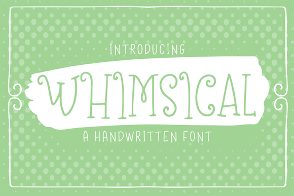 Print on Demand: Whimsical Display Font By carrtoonz