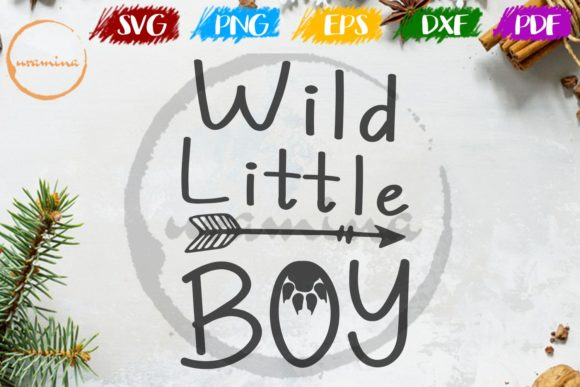 Download Free Wild Little Boy Graphic By Uramina Creative Fabrica for Cricut Explore, Silhouette and other cutting machines.