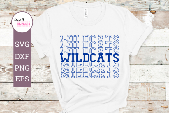 Download Free Wildcats Mirror Word Cut File Graphic By Love It Mirrored for Cricut Explore, Silhouette and other cutting machines.
