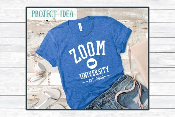Download Free Zoom University Cut File For Craft Graphic By for Cricut Explore, Silhouette and other cutting machines.