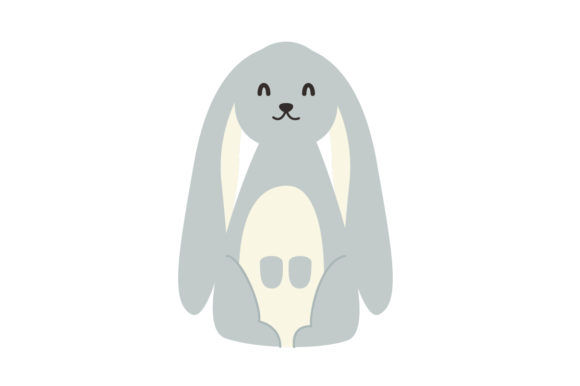 Download Free Cute Bunny Animal Vector Graphic By Sasongkoanis Creative Fabrica for Cricut Explore, Silhouette and other cutting machines.