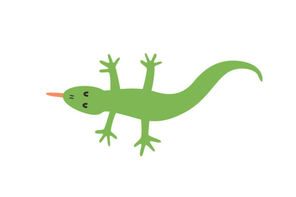 Download Free Cute Lizard Animal Vector Graphic By Sasongkoanis Creative Fabrica for Cricut Explore, Silhouette and other cutting machines.