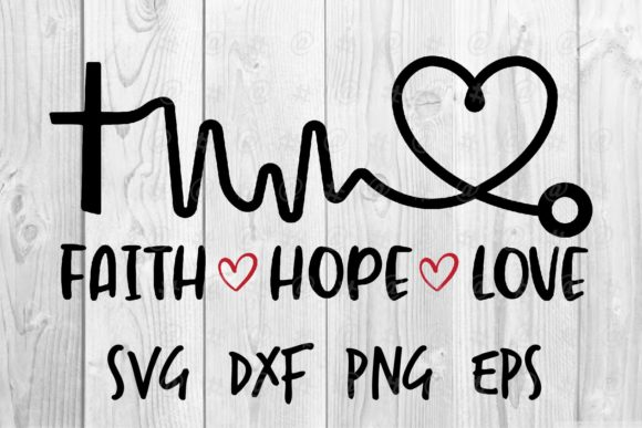 Faith Hope Love Graphic Crafts By spoonyprint
