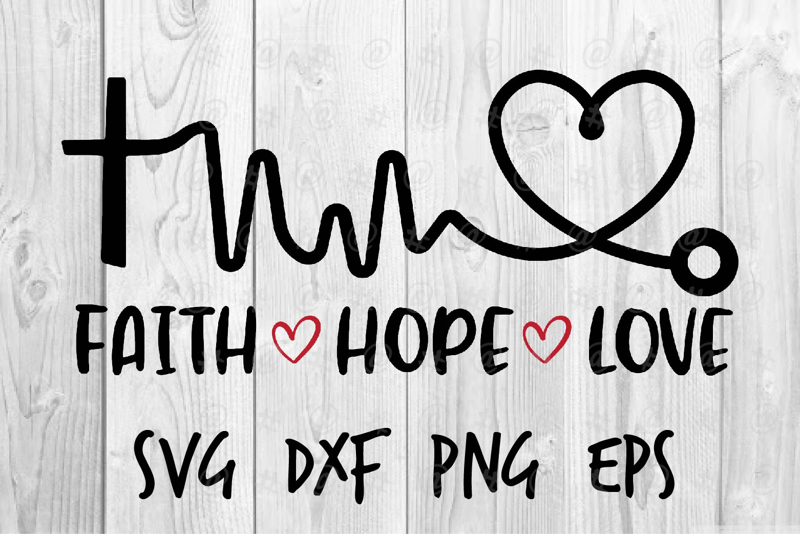Download Free Faith Hope Love Graphic By Spoonyprint Creative Fabrica for Cricut Explore, Silhouette and other cutting machines.