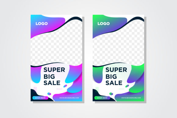 Download Free Liquid Big Sale Banner Vertical Gradient Graphic By Noory for Cricut Explore, Silhouette and other cutting machines.