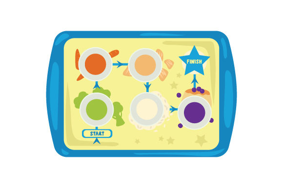 Portion Control Tray Svg Cut File By Creative Fabrica Crafts