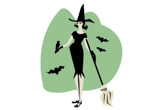 Download Free Witch Costume Svg Cut File By Creative Fabrica Crafts Creative for Cricut Explore, Silhouette and other cutting machines.