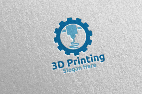 3D Printing Company Logo Design 55 Graphic Logos By denayunecf