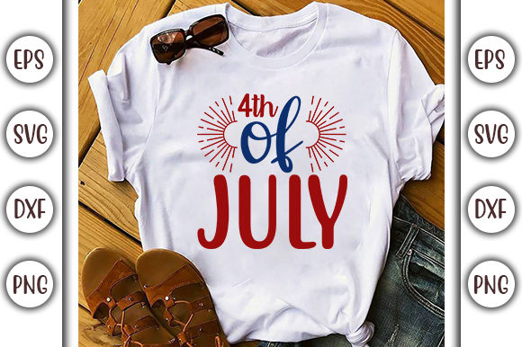 Download Free 4th Of July Design 4th Of July Graphic By Graphicsbooth for Cricut Explore, Silhouette and other cutting machines.