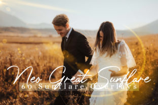 Print on Demand: 60 Neo Great SunFlare Effect Photo Overlays Graphic Backgrounds By 3Motional