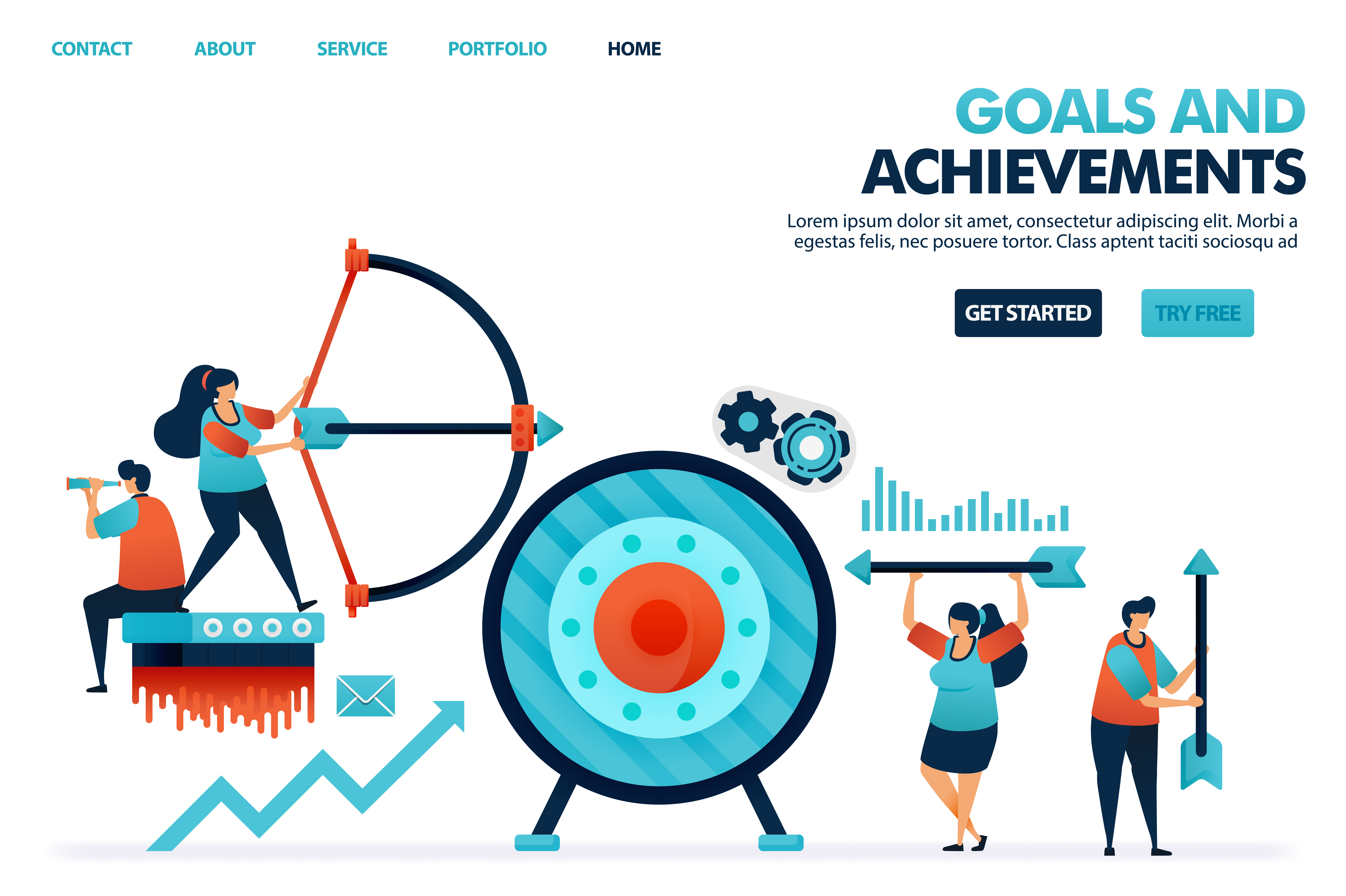 Download Free Achieve Goals And Achievements Result Graphic By for Cricut Explore, Silhouette and other cutting machines.