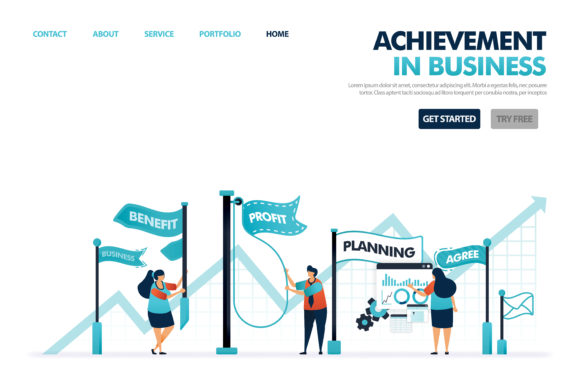 Download Free Achievement And Goals In Business Graphic By Setiawanarief111 for Cricut Explore, Silhouette and other cutting machines.