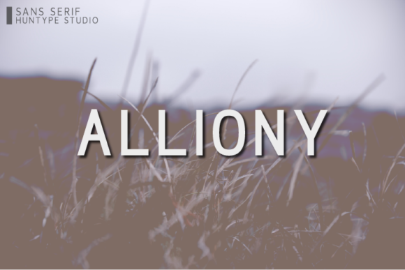 Print on Demand: Alliony Sans Serif Font By Huntype