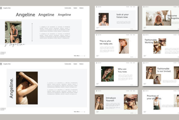 Angeline Powerpoint Template Graphic Presentation Templates By barland