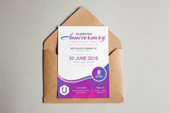 Download Free Anniversary Invitation Graphic By Ju Design Creative Fabrica for Cricut Explore, Silhouette and other cutting machines.