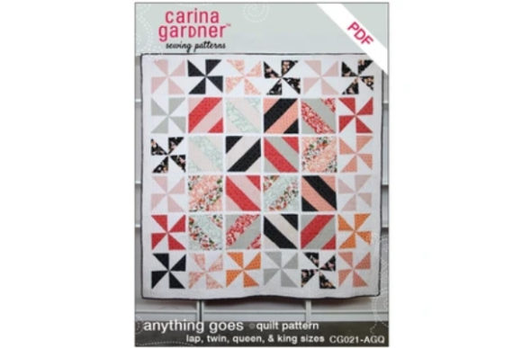Anything Goes Quilt Sewing Pattern Graphic Quilt Patterns By carina2 - Image 1