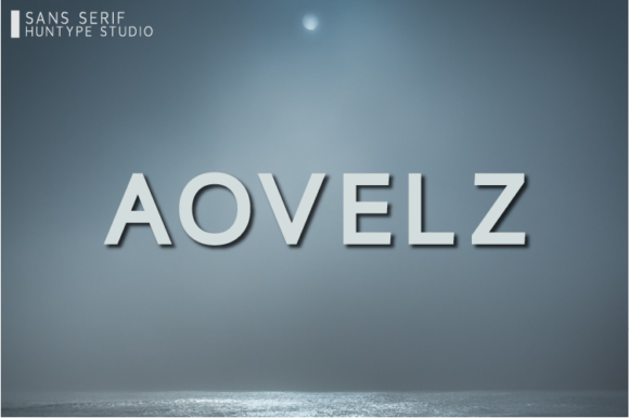 Print on Demand: Aovelz Sans Serif Font By Huntype