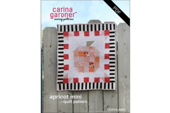 Apricot Mini Quilt Sewing Pattern Graphic Quilt Patterns By carina2