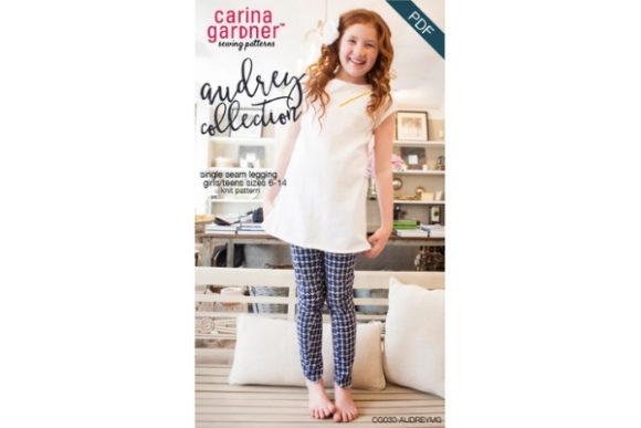 Audrey Collection - Girls Legging Sewing Pattern Graphic Sewing Patterns By carina2 - Image 1