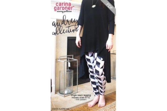 Audrey Collection - Misses Legging Sewing Pattern Graphic Sewing Patterns By carina2 - Image 1