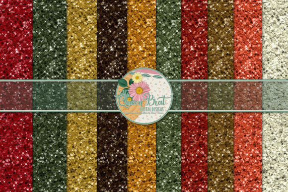 Print on Demand: Autumn Glitter Papers Graphic Backgrounds By QueenBrat Digital Designs