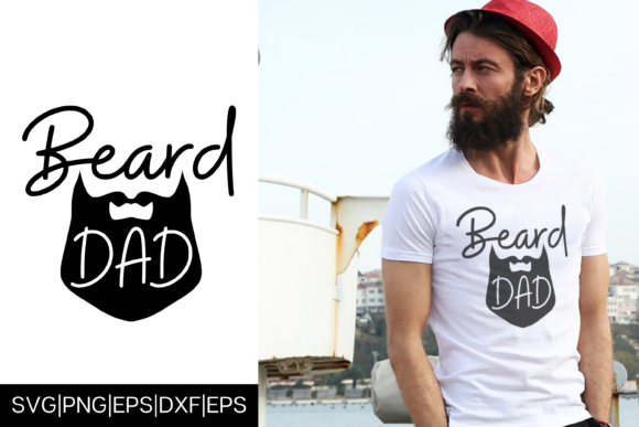 Download Free Beard Dad Father S Day T Shirt Design Graphic By Mockup Venue for Cricut Explore, Silhouette and other cutting machines.